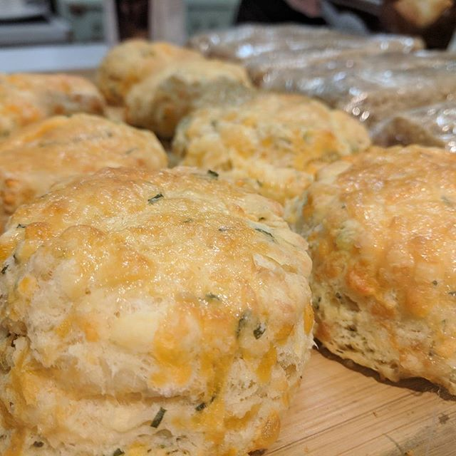 Cheddar and chive biscuits anyone? Try them instead of English muffins for your breakfast sandwiches!