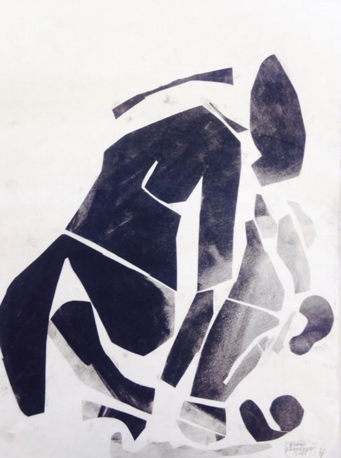 Afrika II, charcoal cutouts on paper, 17 x 14 in,2015   Price on request