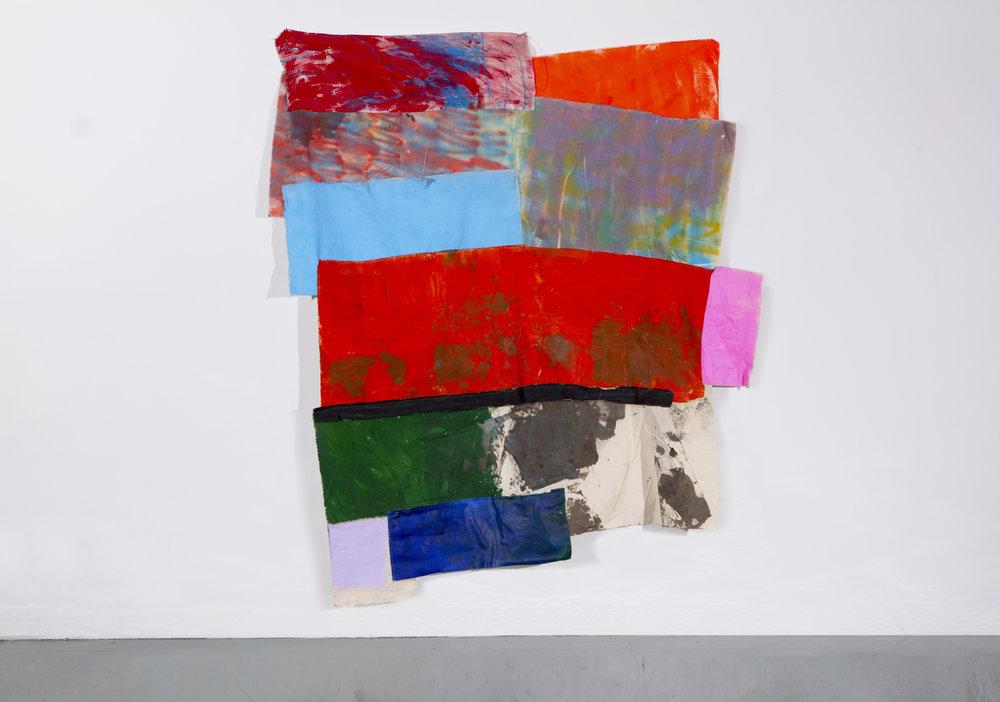 Gatvol, 2018 Acrylic and spray paint on canvas, 68 x 78 inches.