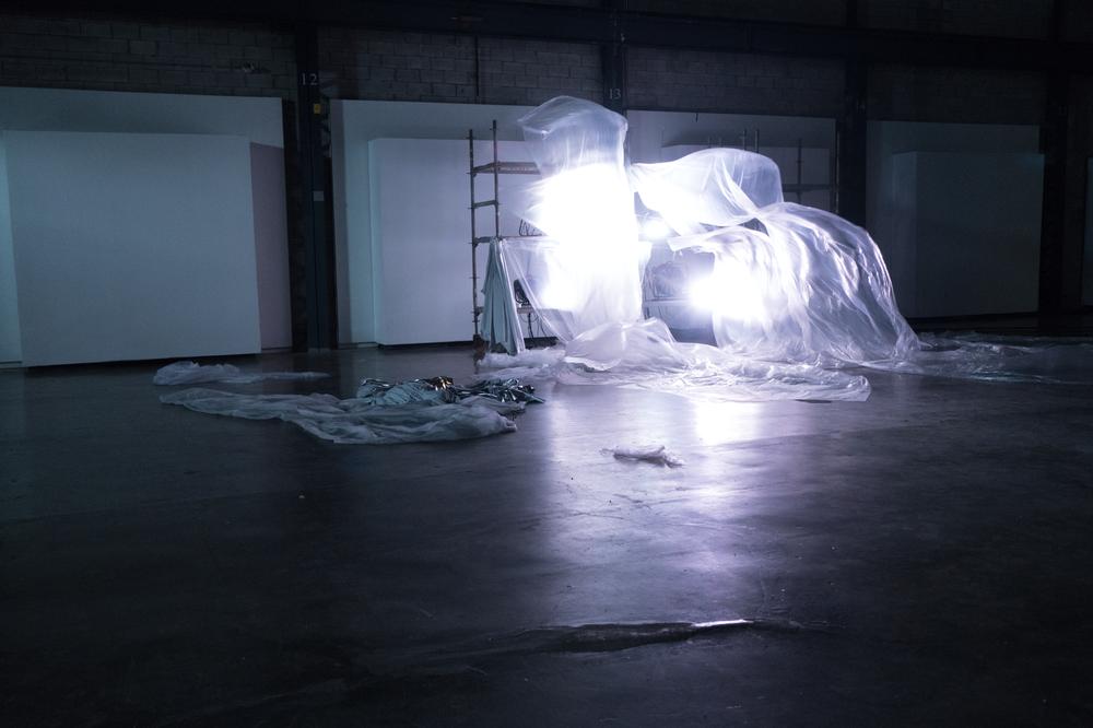 'Whispers' , Fans, Plastic, LED Lighting, 2017- 2018