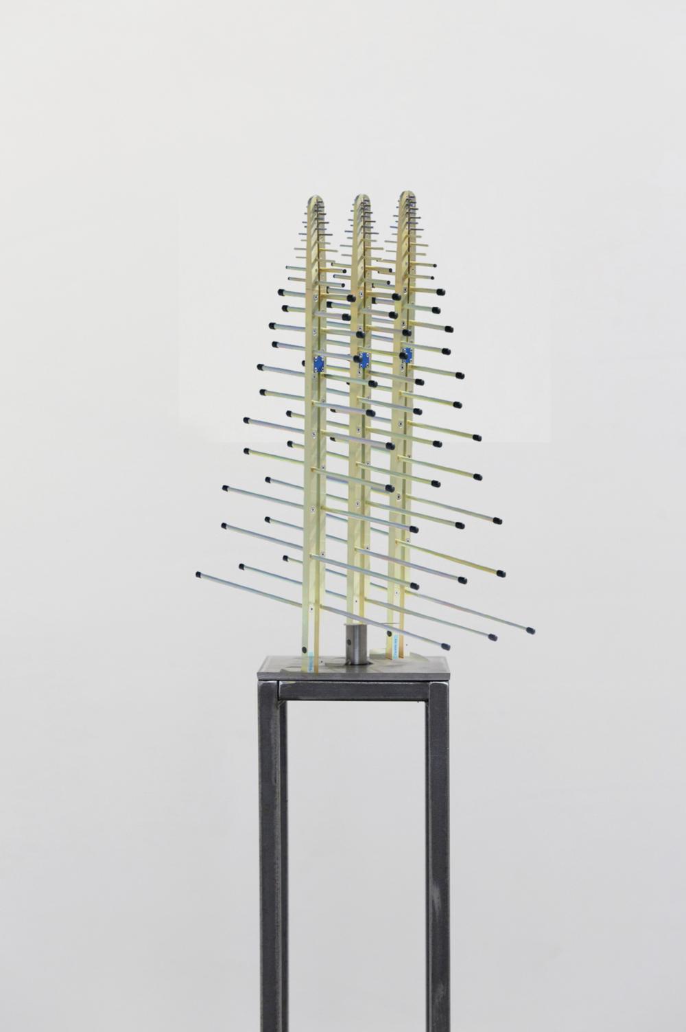 4D Tentacles, Yellow Zinc, Steel, Plastic, 2018