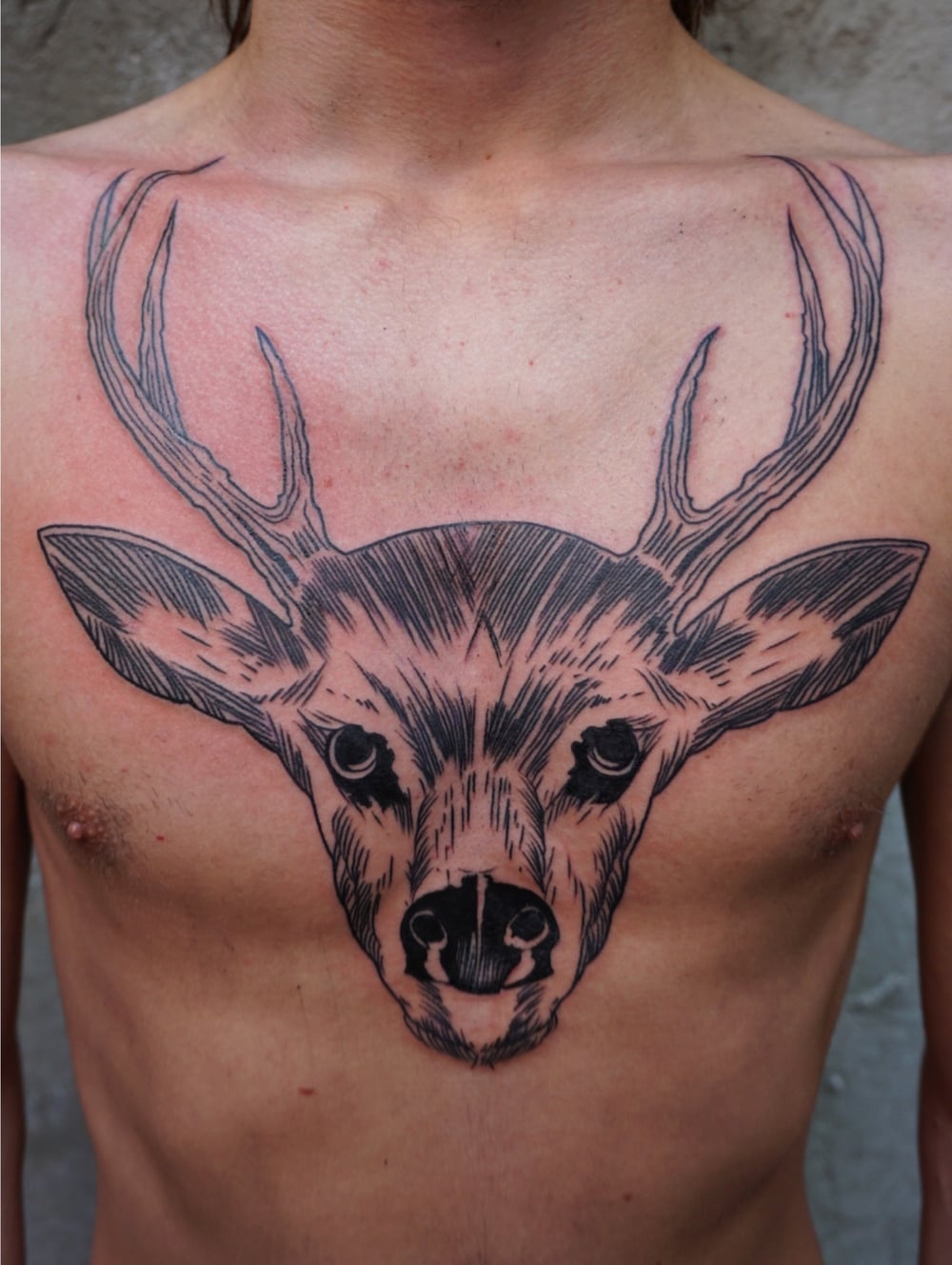 Chest tattoo for Daniel.