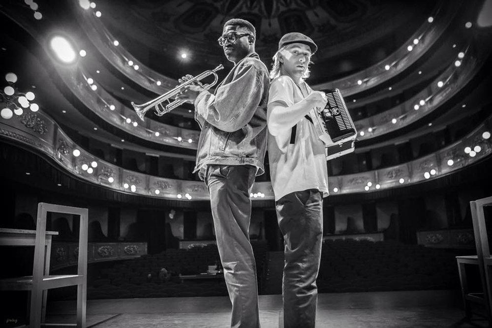 Mark Kavuma and Danny Wallington - The Suit Tour (Peter Brooke) 2015