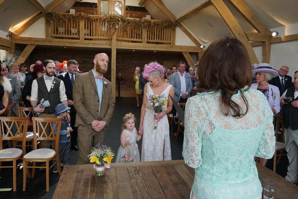 Sam & Toby - Wedding Ceremony Mythe Barn | www.myperfectceremony.co.uk