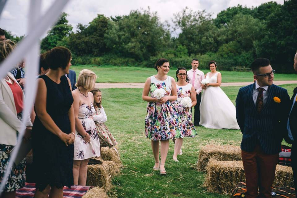 Lisa and Fliss's rustic wedding at Cattows Farm