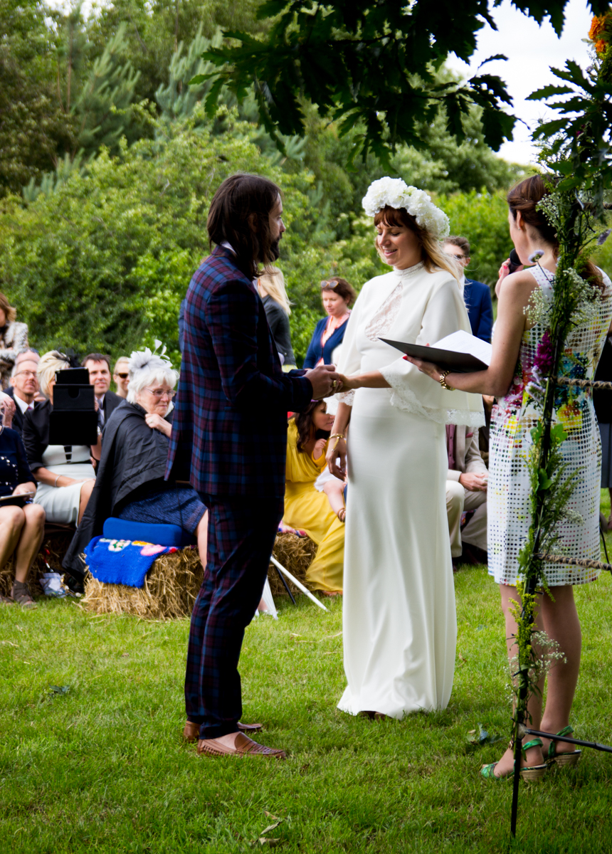 An outdoor ceremony at Bawdon Lodge Farm, Leicestershire