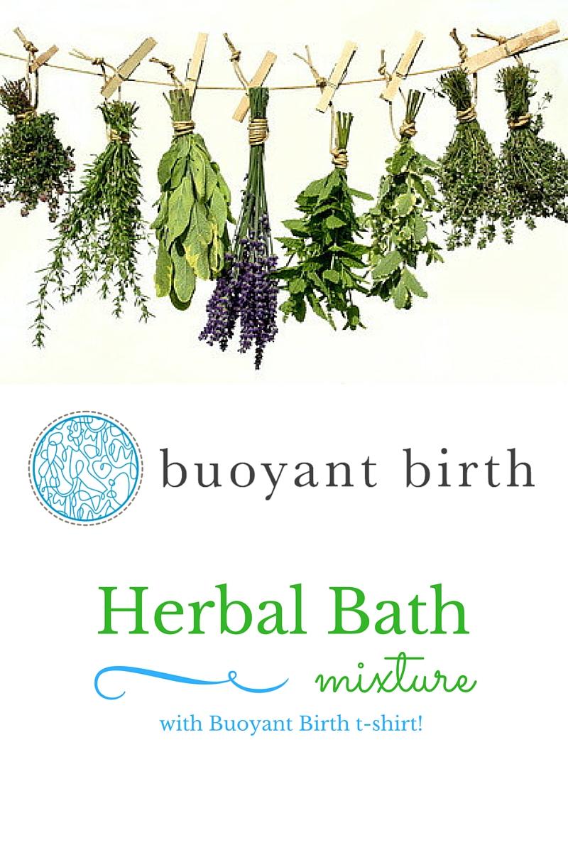 Waterbirth supplies | Organic Herbal Bath — buoyant birth