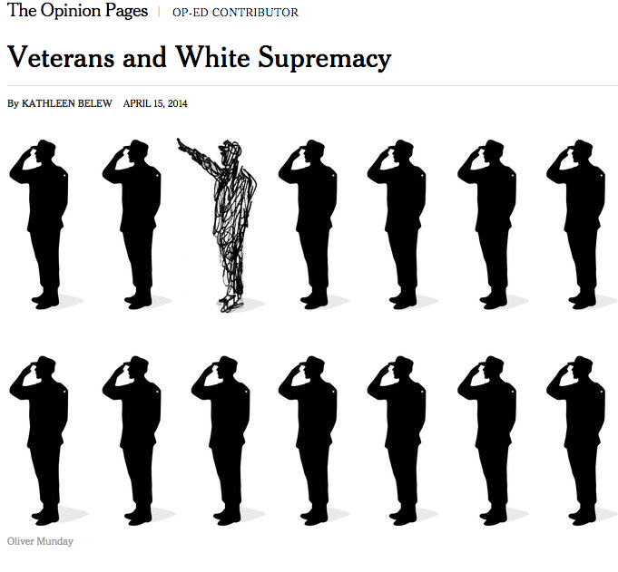 "New York Times - ""Veterans and White Supremacy,"" April 15, 2014"
