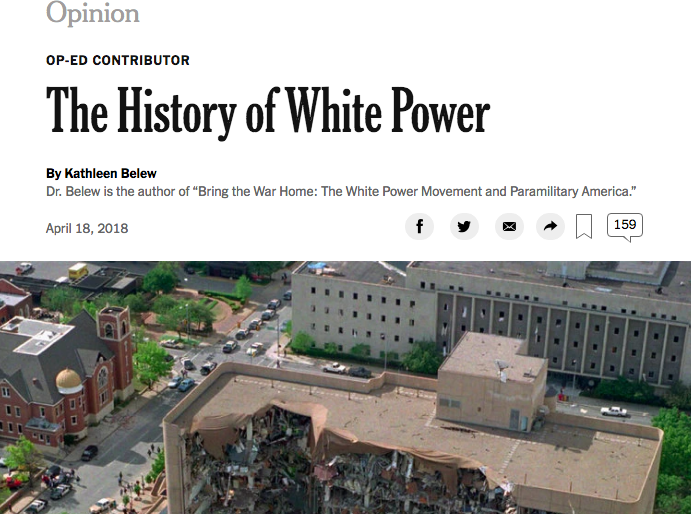 "New York Times - ""The History of White Power,"" April 18, 2015"