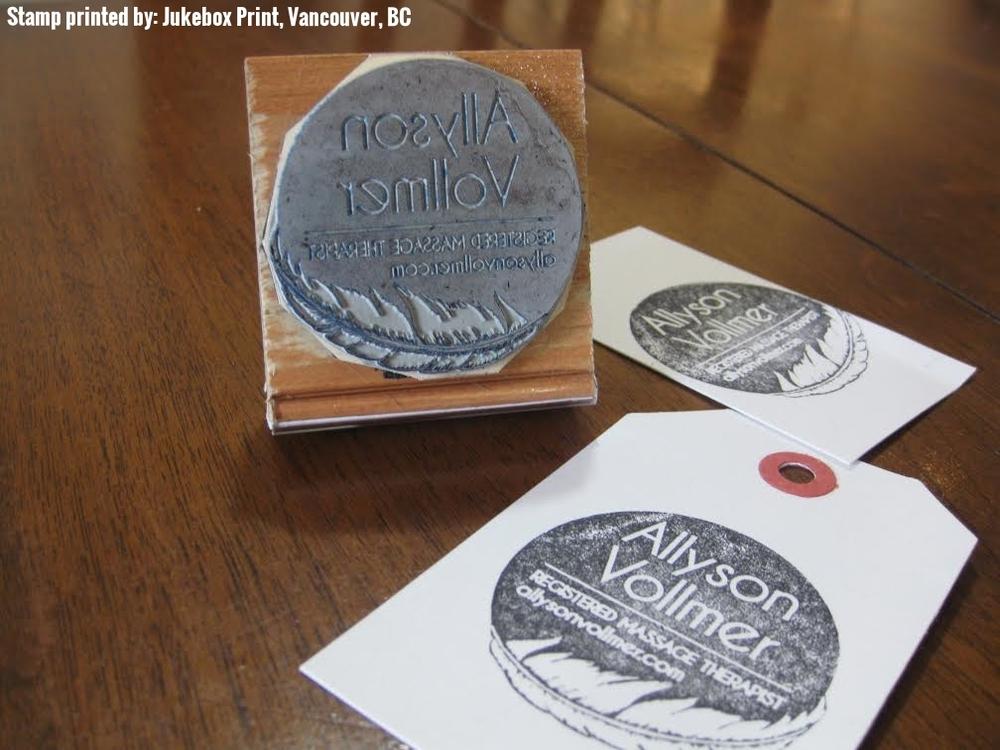 Allyson Vollmer Logo Stamp