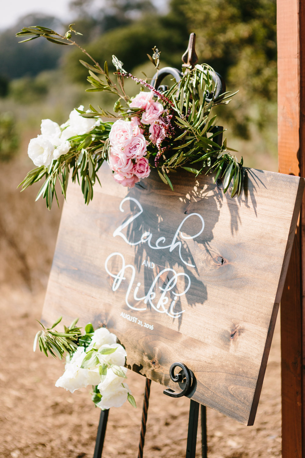 welcomeweddingsign Santa Barbara Destination Wedding Planner Designer Orchard Farm