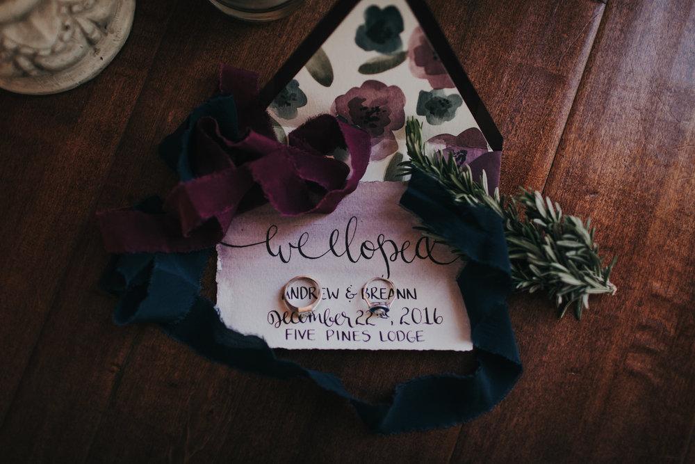 five pine lodge elopement invitation