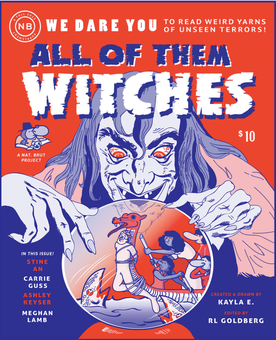 "All of them Witches, 2015, Risograph-printed comic, 8.5"" x 7"""