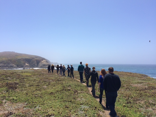 Hill lab walking along the shoreline, Summer 2016