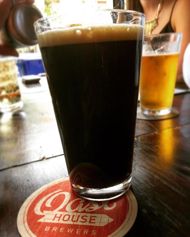 Now pouring:  Black Sow'r (Sour Stout) from @oasthousebrewers.  Notes of chocolate and sour berries. A refreshing treat on a hot day! #drinklocal #craftbeer #summerseventeen