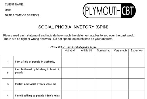 Social Phobia Inventory (SPIN)