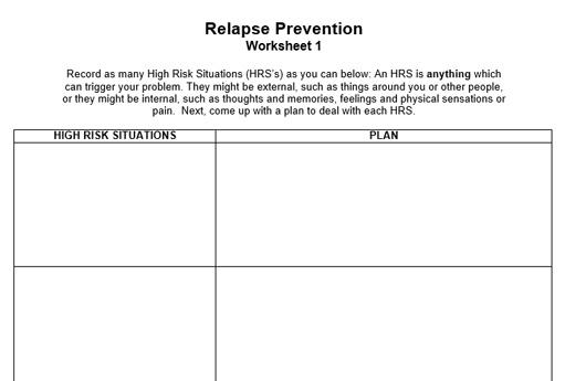 Relapse Prevention Pack