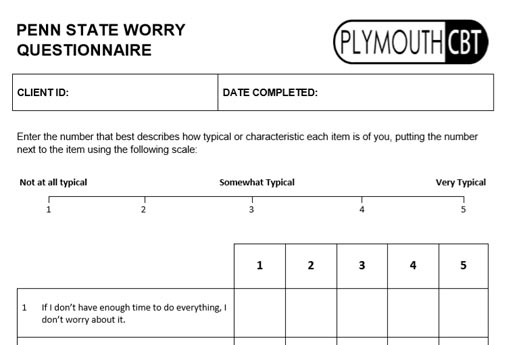 Penn State Worry Questionnaire (PSWQ)