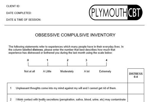 Obsessive Compulsive Inventory (OCI)