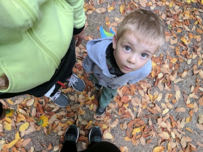 Mom, myself and the kids went for hike today and this is the look I get when I say I want to take a picture of our shoes.