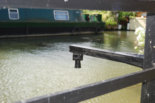 An Oxford Flood Network Community Sensor installed over the Thames.