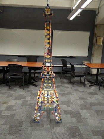 Our model of the Eiffel Tower.