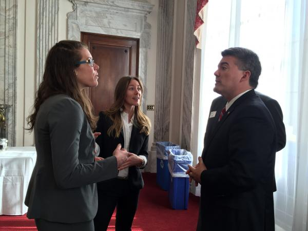 Sarah with Colorado Senator Gardner, Spring 2016 (Photo: Heather Bene)