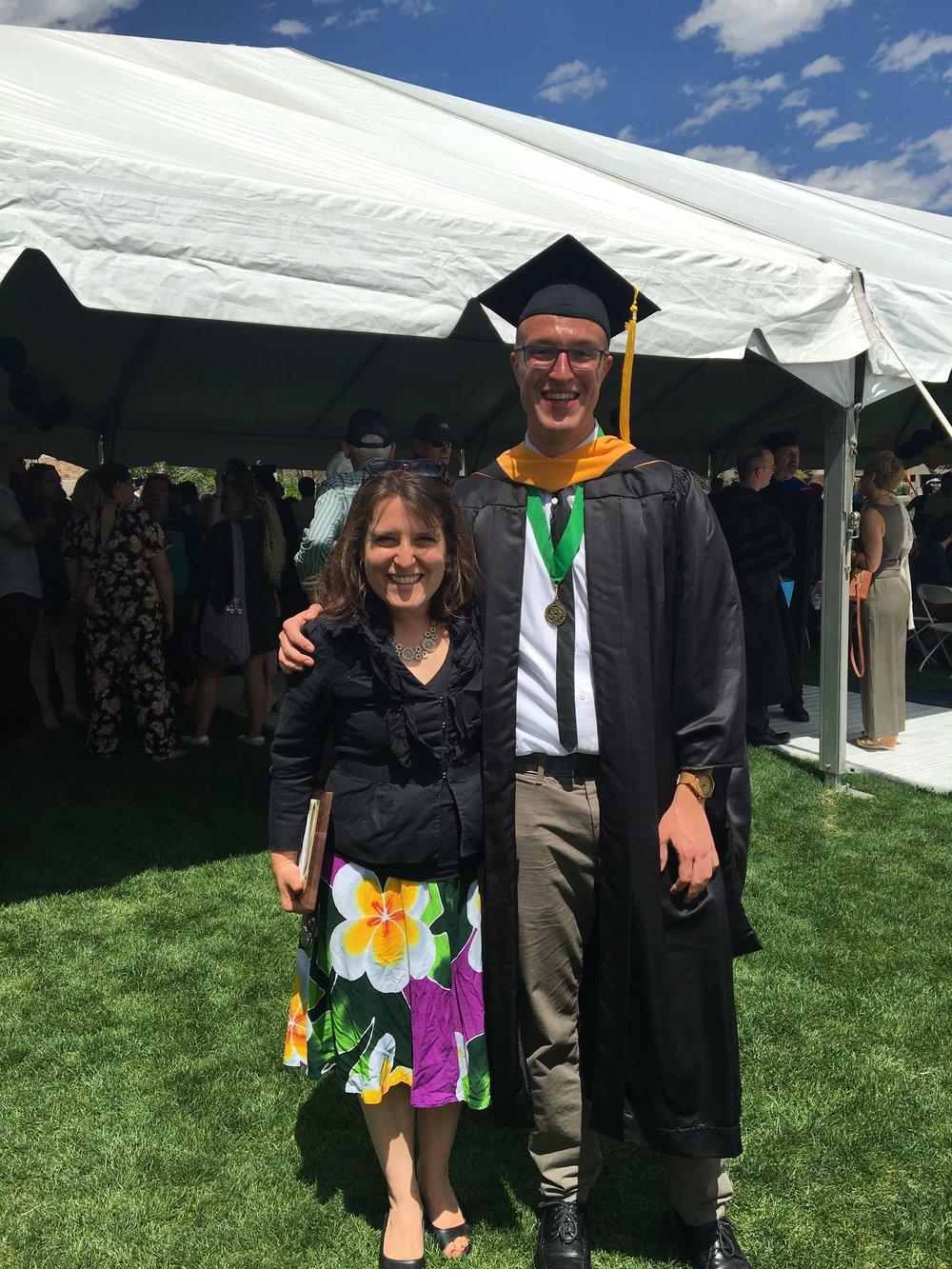 Tyler Davis, BS/MS Graduate. Congratulations, Tyler!