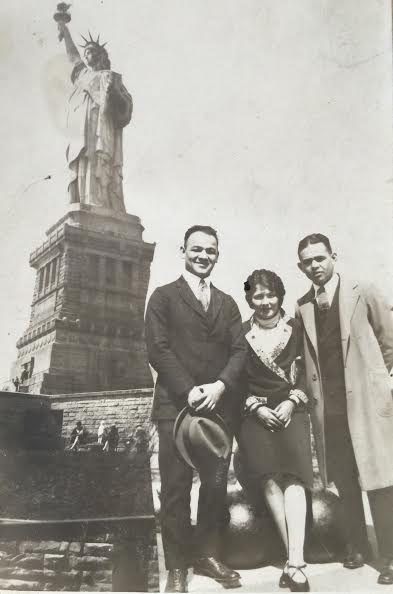 Grandfather Samuel Stern (left), 1927