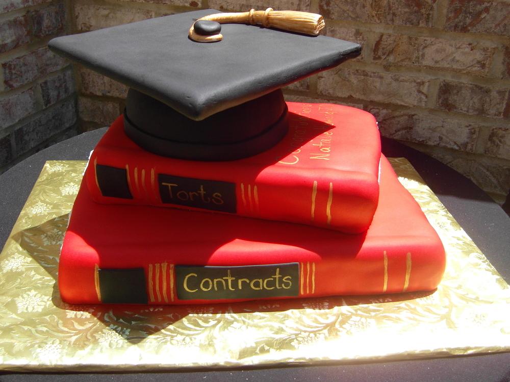 grad cap and books fondant.JPG