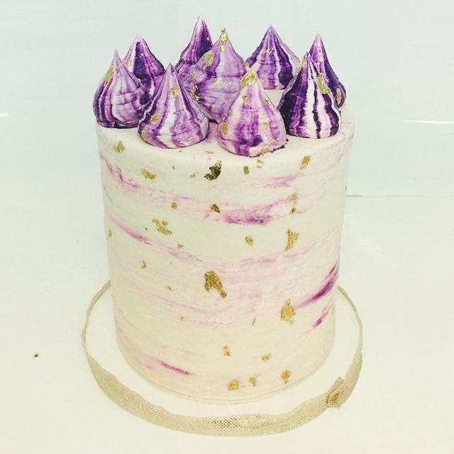 Mounds of yummy! #cakesatlanta #cakesmarietta #goldcake #goldflakes #confectionperfection #tallcakes