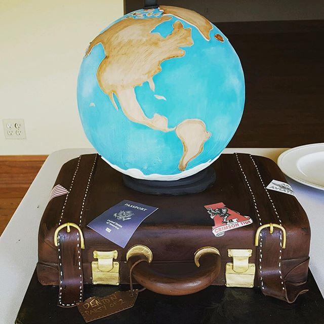Anything can be a cake!  #travel #travelcake #luggagecake #confectionperfection #cakesatlanta #cakesmarietta #groomcake