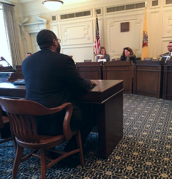 On March 10, 2016, the New Jersey Senate Law and Public Safety Committee voted 3-1 to approve the Isolated Confinement Restriction Act (S.51/A.547), a bill to end the use of long-term solitary confinement in New Jersey. Rev. Charles Boyer testifies at a hearing on the bill. Photo Credit: Alexander Shalom, ACLU of New Jersey
