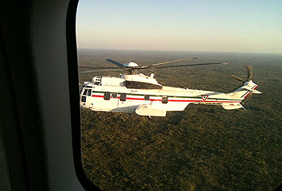 Super Puma Helicopter - part of the Mexican President's fleet