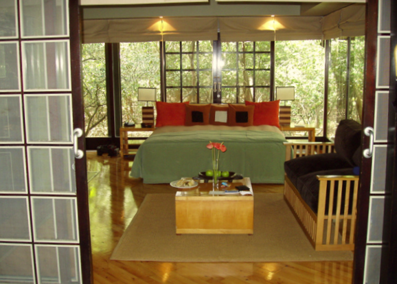 One of the beautiful accommodations at Phinda Forest Lodge