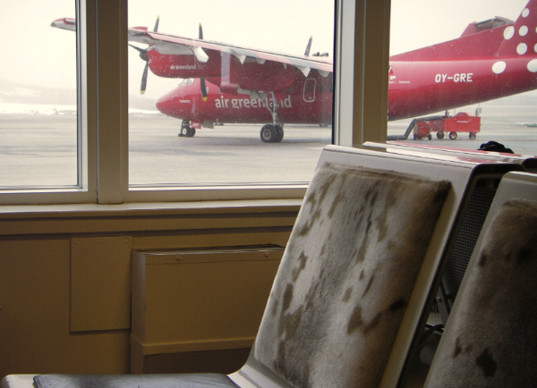 The Prop Plane took us to Nuuk, the capital.