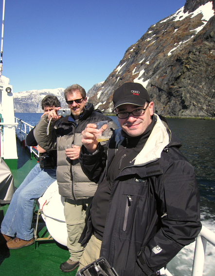 We savored our Scotch and 100,000 year old ice