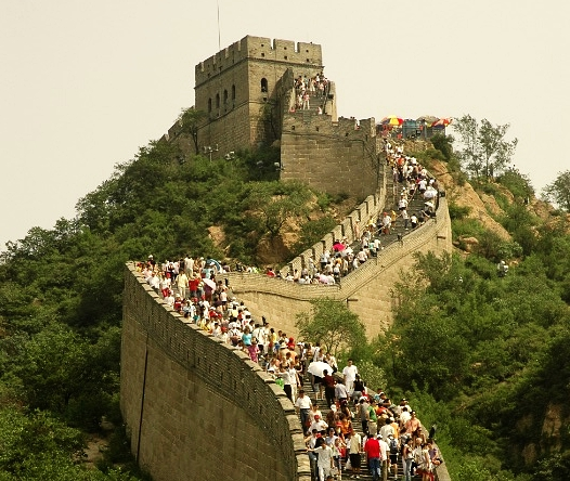 They were bumper to bumper on the Great Wall