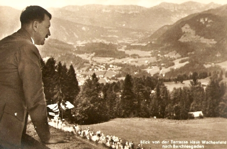 "Hitler looking out over his ""neighborhood"""