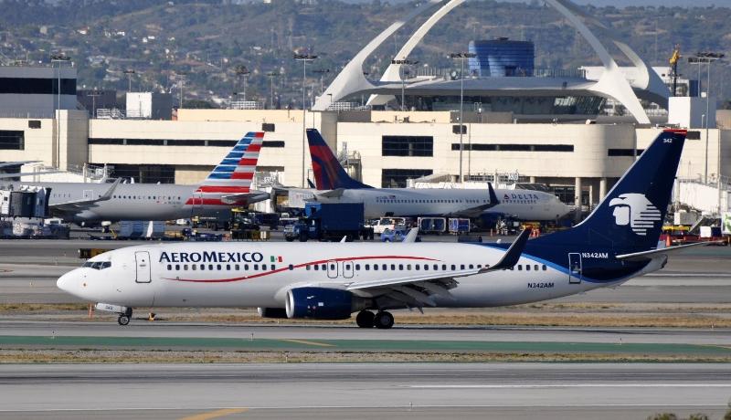 Mexico City   LAX  Aero Mexico jet.jpg