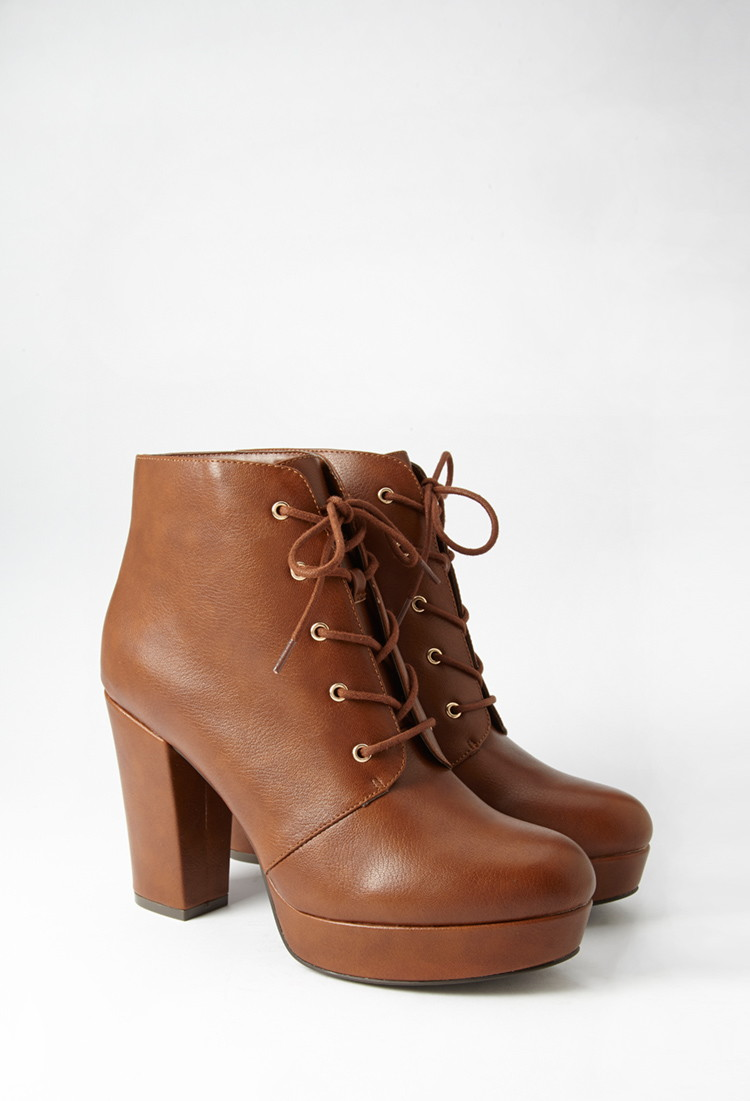 Faux Leather Platforms - Forever 21 ( I love these, I want them so bad.... but financial constraints lol )