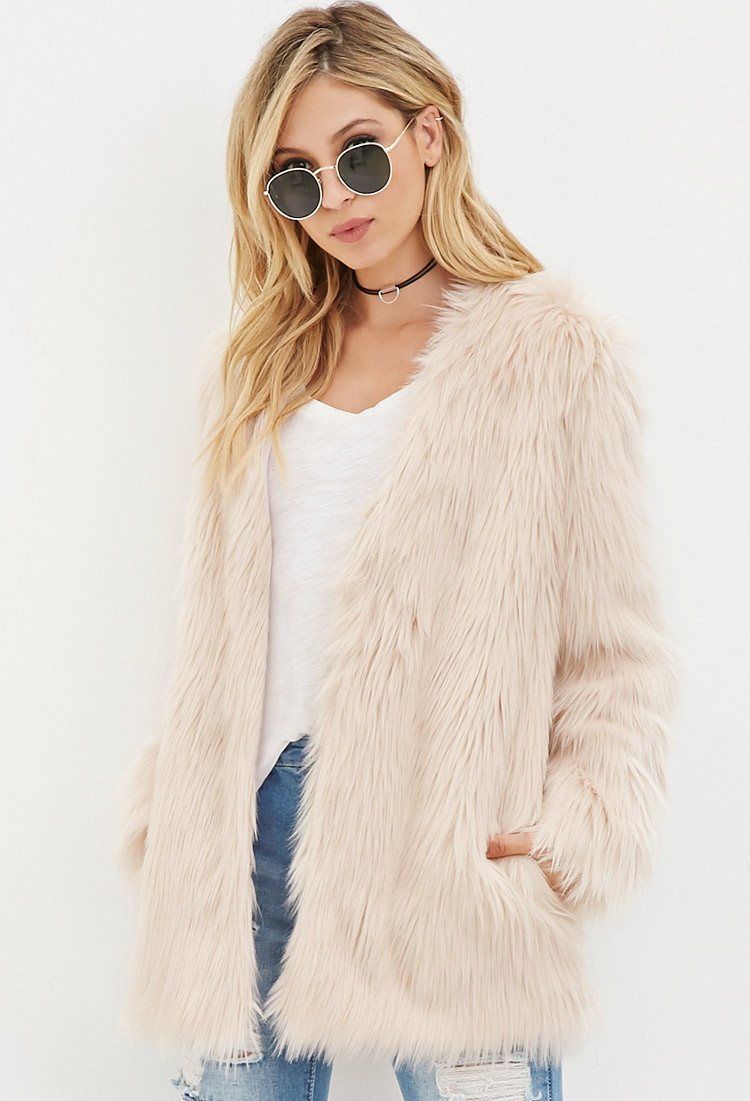 Faux Fur Coat - Forever 21 ( Yes I've been Stalking a lot of coats... they'll be my best-friends soon enough )