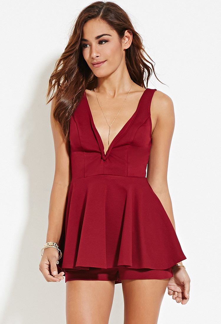 V Neck Short Romper - Forever 21 ( I have a new found appreciation for Rompers ... They make partying so much easier and are really comfortable. I really love this style and the colour i think would pop with my skin )