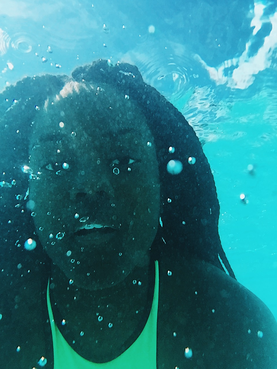 I also spent alot of time under the water too 😍