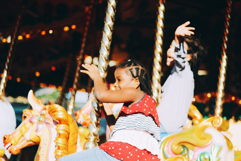 Jahshaya & Luca on the Merry-Go-Round