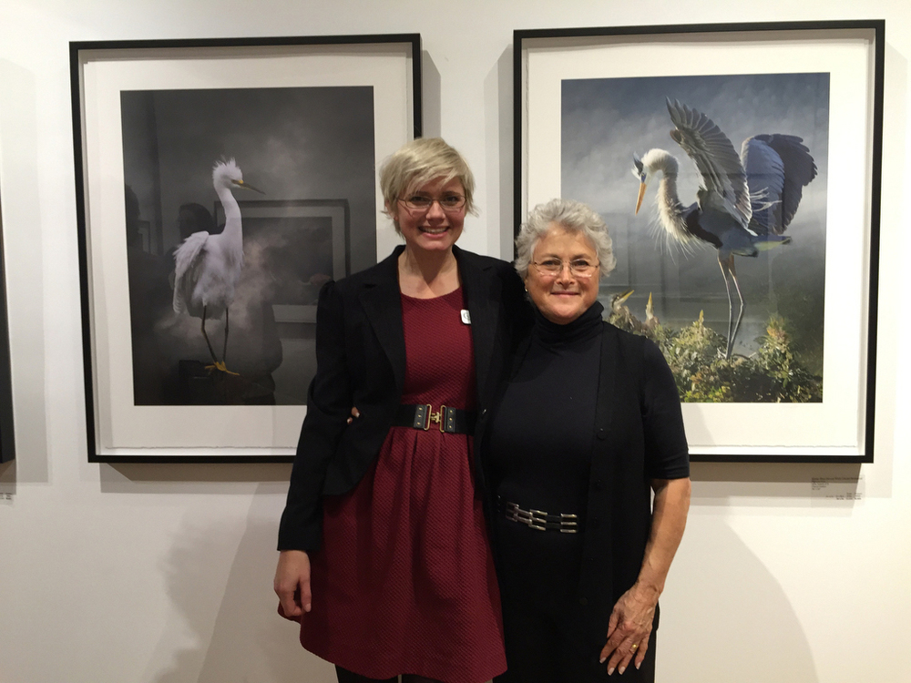 Jolene Hanson, Director G2 Gallery and Cheryl Medow