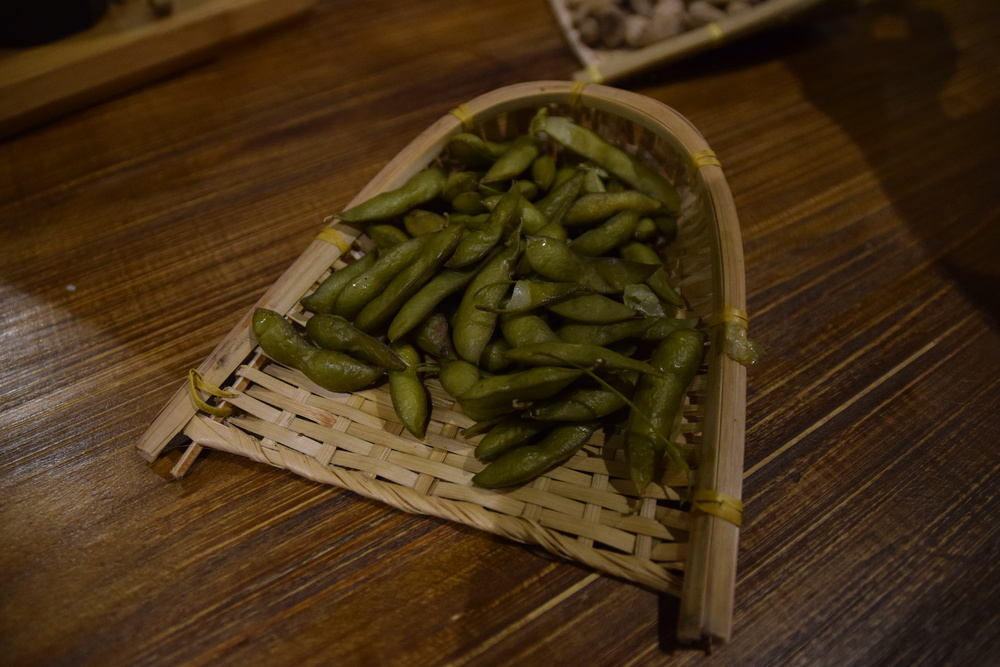 Unseasoned Chinese green beans.