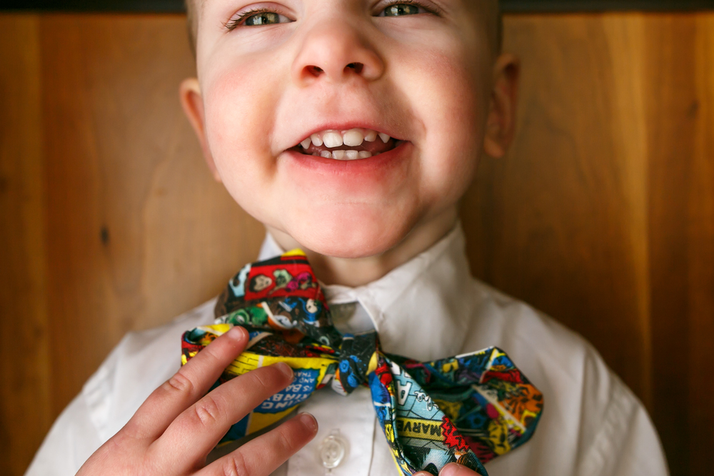 Focus: Symmetry. My handsome stud's new bowtie is also something I can't seem to divert focus from. :)