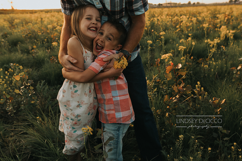 dad with kids pic ideas