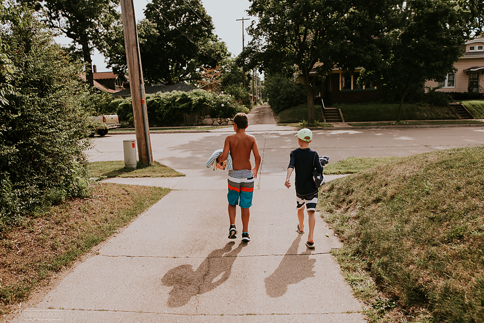 54/365Let's alley walk to the splash pad.